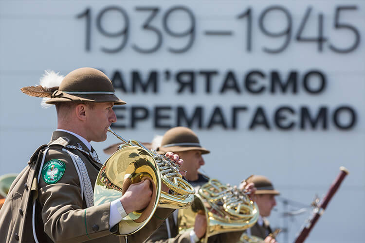 March of military orchestras. Kyiv.