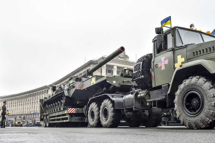 The Ukrainian Armed Forces Parade through Central Square in Kyiv