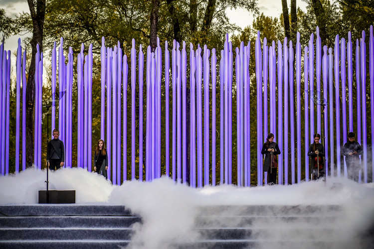 The Witness is a music brainchild of the composer Svyatoslav Lunyov for the commemoration of one of the greatest tragedies of the Jewish people during the Second World War, the 75th anniversary of the Babyn Yar massacre. <br /> <br /> Photo by Mykola Lazarenko