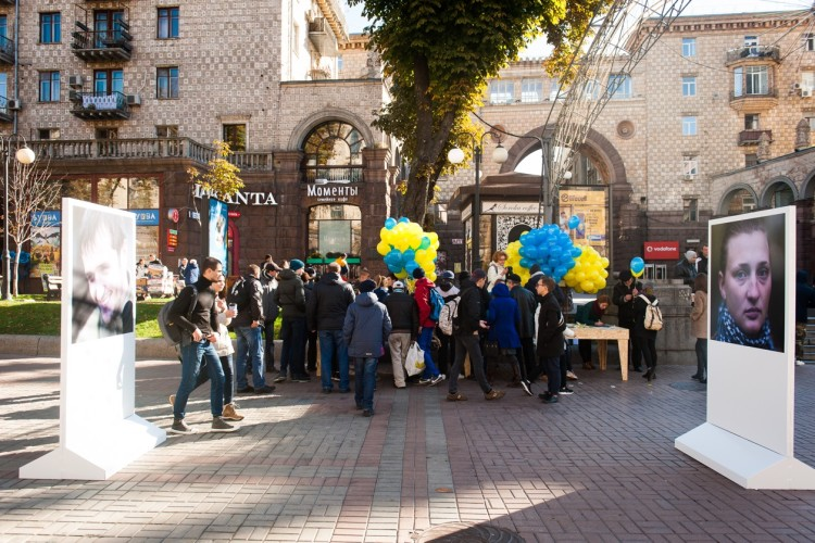 """Exhibition """"Under the protection of Ukrainian military"""".  Kyiv, October 14, 2016"""